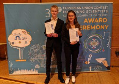 Mattias och Elsas vinst på EUCYS 2019